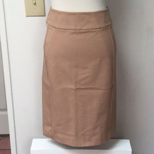 Ann Taylor Nude Stretchy Pencil Skirt Size 0